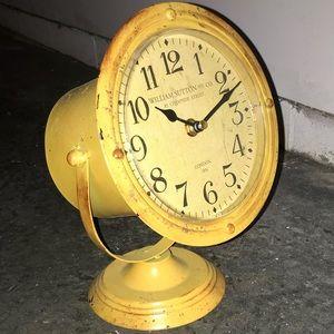 Yellow rustic looking clock